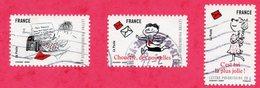France 3 TIMBRES   Oblitérés à Voir - France
