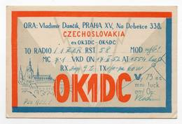 PRAHA CZECHOSLOVAKIA CECOSLOVACCHIA CECA REPUBBLICA - CB RADIO - Radioamatore - Radioamateur - QSL - Short Wave - Carte QSL