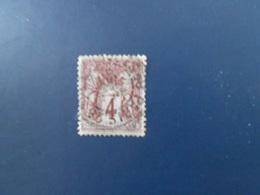FRANCE YT88 TYPE SAGE 4c. Lilas-brun TYPE II Cachet à Date - 1876-1898 Sage (Type II)