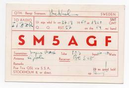 SWEDEN - STOCKHOLM  - CB RADIO - Radioamatore - Radioamateur - QSL - Short Wave - Carte QSL
