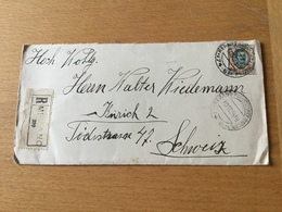 SCHW995 Italien 1924 R-Brief Von Merano Meran Nach Zürich - Marcophilie