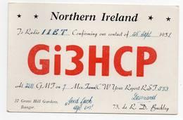 Northern Ireland - BANGOR  - CB RADIO - Radioamatore - Radioamateur - QSL - Short Wave - Carte QSL