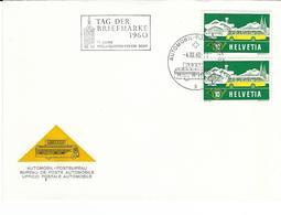 314, Timbre Pour Bureau De Poste Automobile, Les Grisons En Hiver, Obl. Automobil.Post-Bureau 4.XII.60 - Suisse