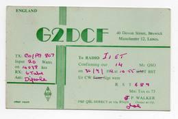 MANCHESTER . LANCS - ENGLIAND  - CB RADIO - Radioamatore - Radioamateur - QSL - Short Wave - Carte QSL