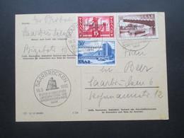 Saarland 1955 Volksbefragung Nr. 363/364 Satzbrief / Postkarte Mit SST Saarbrücken Erster Ordentlicher Landesparteitag - 1947-56 Allierte Besetzung