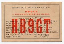 Ste Croix Suisse Switzerland - CB RADIO - Radioamatore - Radioamateur - QSL - Short Wave - Carte QSL