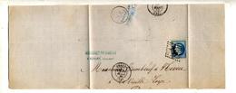 Fragment De Lettre Cachet Losange Beaune Sur Napoleon + - 1849-1876: Periodo Clásico