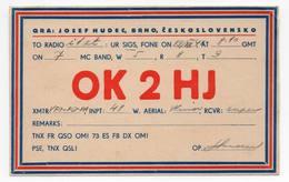 BRNO CESKOSLOVENSKO - CB RADIO - Radioamatore - Radioamateur - QSL - Short Wave - Carte QSL