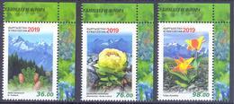 2019. Kyrgyzstan, Red Book, Flora Of Kyrgyzstan, 3v Perforated, Mint/** - Kyrgyzstan