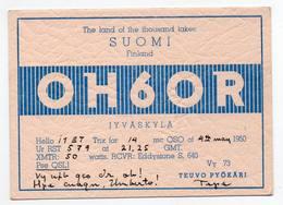 SUOMI FINLAND JYCASKYLA - CB RADIO - Radioamatore - Radioamateur - QSL - Short Wave - Carte QSL