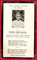 -- SOUVENIR MORTUAIRE De INES MENGES / Née En 1934 Et Décédée En 1945 à SARRALBE (Moselle)-- - Imágenes Religiosas