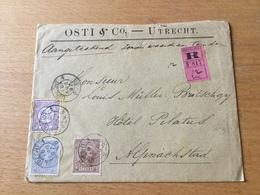 SCHW995 Niederlande 1897 R-Brief Von Utrecht Mit Inhalt Nach Alpnachstad - Lettres & Documents