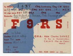 CALAIS PAS DE CALAIS FRANCE FRANCIA - Erinnofilia - CB RADIO - Radioamatore - Radioamateur - QSL - Short Wave - Carte QSL