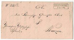 IZ76 Brief Eilenburg 9.2. Für Wurzen 1867 - Germania