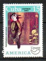 CUBA. N°4115 De 2003. UPAEP Pic. - Specht- & Bartvögel