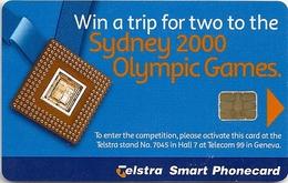 Australia - ITU Telecom Interactive 99' Geneva Telstra Smart Phonecard, $2, Mint - Australia