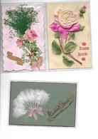Carte Postale Fantaisie Thème Bonne Année 30pieces Toutes Travaillées Fleurs Tissu.... Protégées Sous Pochettes - Nouvel An