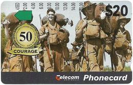 Australia - Telstra - Anritsu - Courage, 50th Anniv. Of WWII War, 20$, 04.1995, 78.500ex, Used - Australia