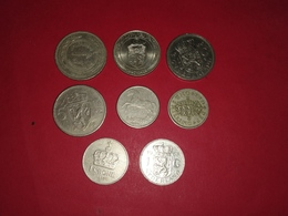 LOT DE 8 MONNAIES DU MONDE Non Nettoyé - Vrac - Monnaies