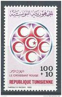 """Tunisie YT 1027 """" Croissant-Rouge Et Croix-Rouge """" 1985 Neuf** - Tunisia"""