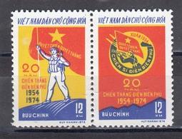 Vietnam Nord 1974 - 20th Anniversary Of The Victory Of Dien Bien Phu, Mi-Nr. 759/60, MNH** - Vietnam
