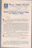 Paris : Rue Monsieur Le Prince:/ Repliée Figeac : Catalogue ABBE DENIS Timbres Pour Bazars (c 1940-41)(PPP11674) - Publicités