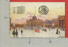 CARTOLINA VG ITALIA - ROMA - Piazza San Pietro - ILLUSTRATA RAIMONDI - 9 X 14 - 1916 - San Pietro