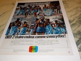 ANCIENNE PUBLICITE ORTF 2 EME CHAINE COULEUR  1971 - Autres