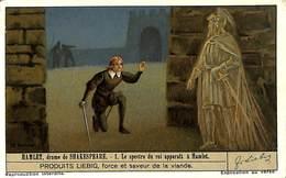 Chromo - Liebig - Hamlet, Drame De Shakespeare - 1 Le Spectre Du Roi Apparait à Hamlet - Liebig