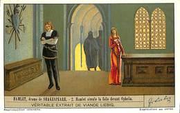 Chromo - Liebig - Hamlet, Drame De Shakespeare - 2 Hamlet Simule La Folie Devant Ophélia - Liebig