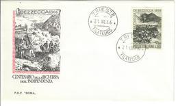 ITALIA 1966 - BEZZECCA 1866 - CENTENARIO DELLA III GUERRA DELL'INDIPENDENZA - FDC - 1946-.. République