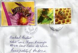 L'apiculture Dans L'île De Malte, Adressée Andorra, Avec Timbre à Date Arrivée 2020 - Abeilles
