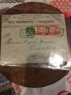 Lettre Exprès Trazegnies 16/04/1914 Vers La Louvière T.3x111+110 +c.telegr. La Louvière - 1912 Pellens