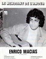 PARTITION LE MENDIANT DE L'AMOUR DE ET PAR ENRICO MACIAS - 1980 - EXC ETAT COMME NEUF - - Musik & Instrumente