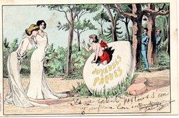 COULON : Joyeuses Pâques Angelot Amour Sortant D'un Oeuf Femmes Hommes  éditeur Bergeret état Voir Scan - Autres Illustrateurs
