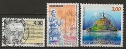 FRANCE:, Obl., N° YT 3163, 3164 Et 3165, TB - France
