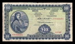 Irlanda Ireland 10 Pound Lady Hazel Lavery 1962 Pick 66 BC F - Irlanda