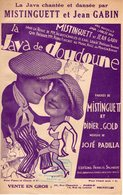 PARTITION LA JAVA DE DOUDOUNE DE PADILLA / GOLD / MISTINGUETT PAR JEAN GABIN ET MISTINGUETT - 1928 - TB ETAT - - Musica & Strumenti