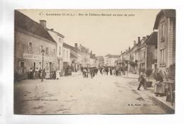 71 - LOUHANS ( S.-et-L. ) - Rue De Château-Renaud Un Jour De Foire. Carte Animée - Louhans