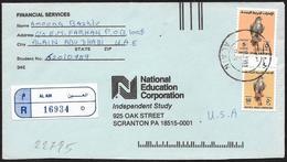 Emirati Arabi Uniti/United Arab Emirates/Emirats Arabes Unis: Raccomandata, Registered, Recommandé. Falcone, Falcon, Fau - Aquile & Rapaci Diurni