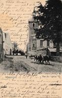 Wasseiges Vue De L'église Attelage De Vaches 1903 - Wasseiges