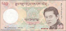 TWN - BHUTAN 31b - 50 Ngultrum 2013 Prefix M UNC - Bhoutan