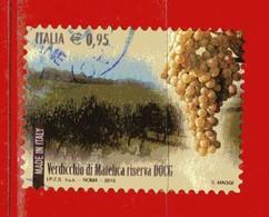 Italia °- 2015 - Made In Italy VINI DOCG - VERDICCHIO Di MATELICA Riserva. Unif. 3694. Usato - 2011-...: Oblitérés