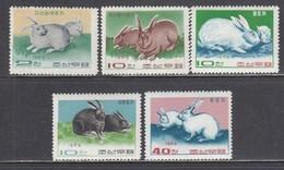Korea North 1969 - Rabbits, Mi-Nr. 881/85, MNH** - Korea, North