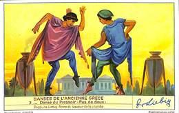 """Chromo - Liebig - Danse De L'Ancienne Grèce - 3 Danse Du Pressoir """"Pas De Deux"""" - Liebig"""