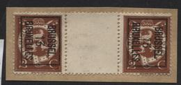 PREOS Typo - BRUSSEL 1913 BRUXELLES Interpanneaux (position B). Cat 41 Cote 100x2 - Precancels