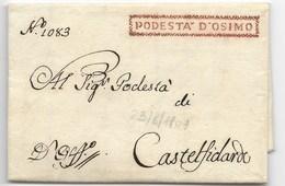 PERIODO NAPOLEONICO - DA OSIMO A CASTELFIDARDO - 23.8.1809. - Italia