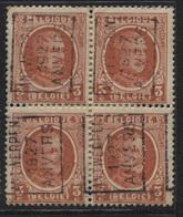 PREOS Roulette - ANTWERPEN 1927 ANVERS (position A) Bloc De 4 - Roller Precancels 1920-29