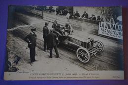 CPA PHOTO VOITURE RALLYE COURSE THERY Dans Un Réespacement En Attente Du Départ COUPE GORDON BENNETT 1905 - Other
