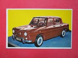 Trading Card (Cromo) - Renault 8 - Nº 168 - Col. Autos 1967 - Ed. Bruguera 1967 - (Spain) / France - Automobili
